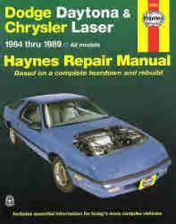 automotive air conditioning repair 1992 dodge daytona instrument cluster 1984 1989 dodge daytona and chrysler laser haynes repair manual