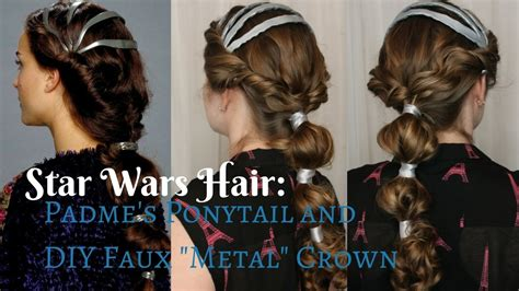 paloma star wars hairstyles star wars inspired padme s ponytail diy quot faux quot metal