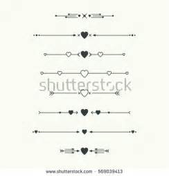 Decorative Dividers Dividers Vector Set Isolated Geometric Horizontal Stock