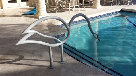 Handrails For Inground Pools swan swimming pool handrail