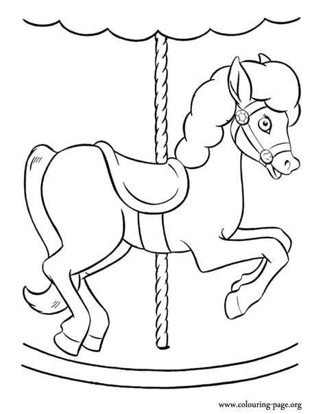 coloring pages of carousel horses horses a carousel coloring page