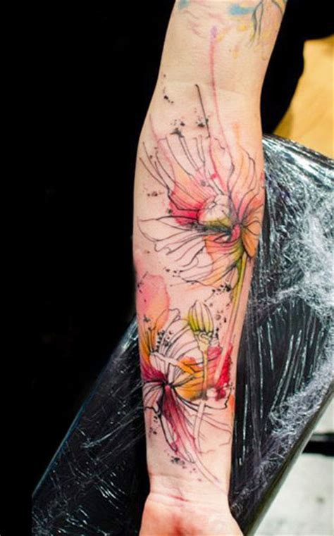 abstract flower tattoo designs artistic flower by klaim design of tattoosdesign