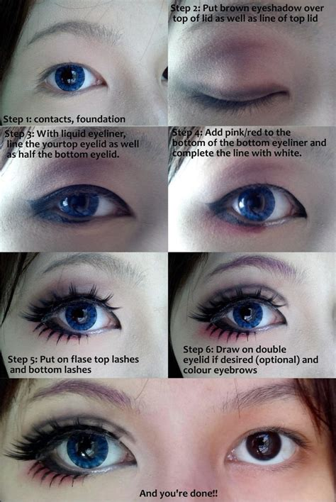 tutorial makeup for small eyes cosplay eye makeup tutorial by wenqiann on deviantart