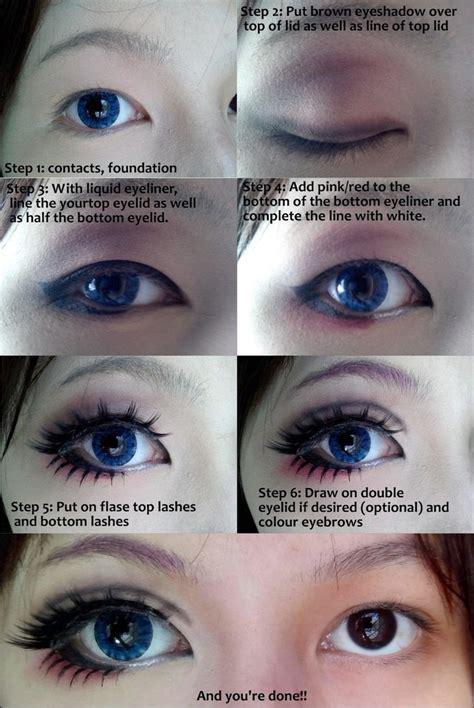 eyeliner tutorial to make eyes look bigger cosplay eye makeup tutorial by wenqiann on deviantart
