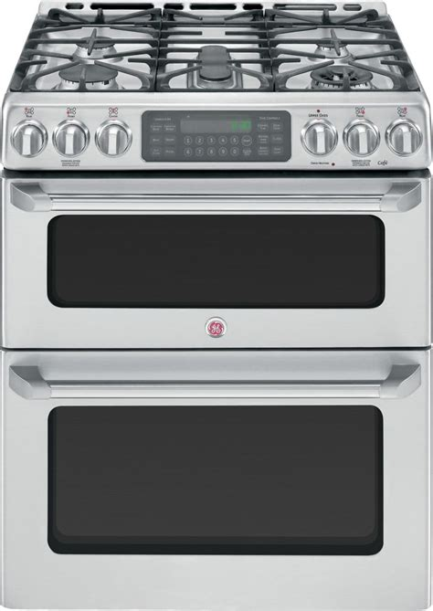 Oven Gas Standing ge caf 233 caf 233 6 7 cu ft free standing oven gas convection self cleaning range in