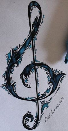 bass and treble clef with flash bass and treble clef with flash