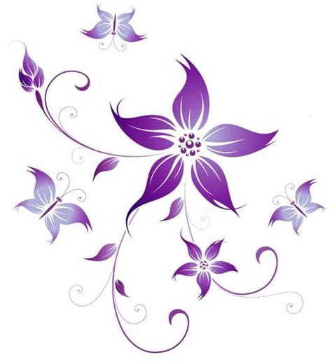 flower design images purple flower tattoos tattoos gallery