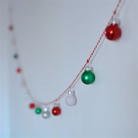 christmas bauble garland hello hooray