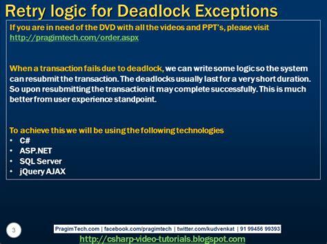 javascript tutorial venkat sql server net and c video tutorial retry logic for