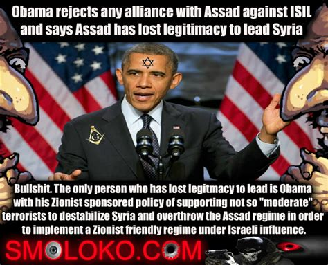 Syria Meme - obama refuses alliance with assad obama s zionist colors
