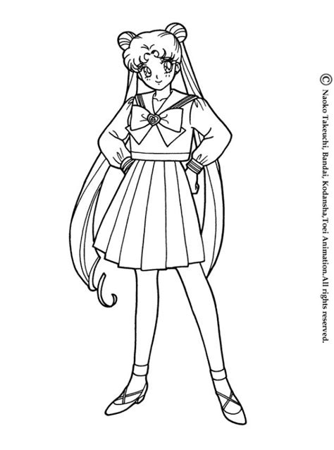 coloring pages school uniform sailor moon in her school uniform coloring pages