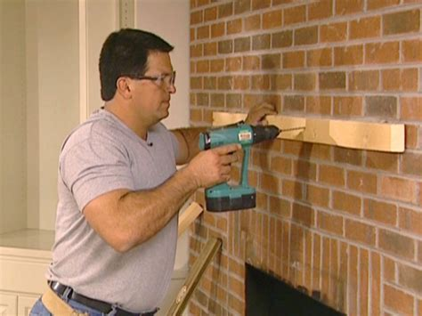 How To Create A Fireplace Mantel How Tos Diy How To Install A Mantel On A Brick Fireplace