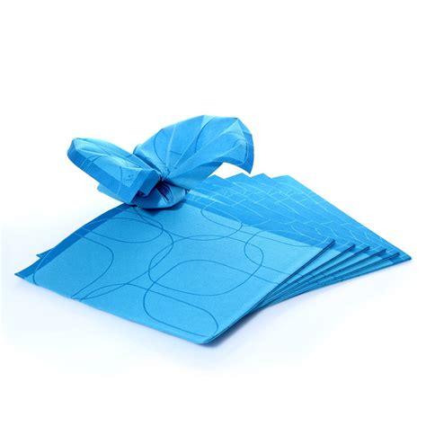 Blau Mit Muster Servietten Duni 40x40cm Blau Mit Muster 15 Stk 1 4 Falz