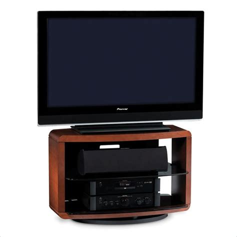 Single Shelf Tv Stand by Valera Single Wide 3 Shelf Swivel Tv Stand In Cherry 9723 Ch
