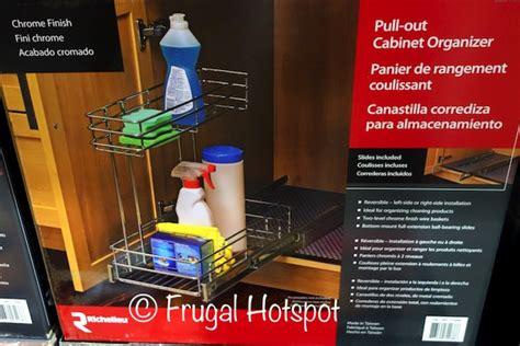 pull out cabinet organizer costco costco richelieu pull out cabinet organizer 19 99