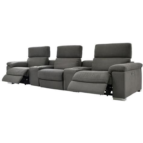 karly dark gray home theater seating el dorado furniture