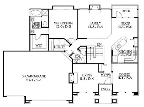 Rambling Ranch House Plans classic rambler floor plans by builderhouseplans http
