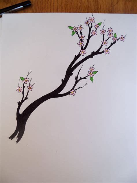 cherry tree branch by crazyeyedbuffalo on deviantart