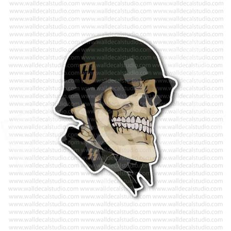 from 4 00 buy german skull ss soldier sticker at