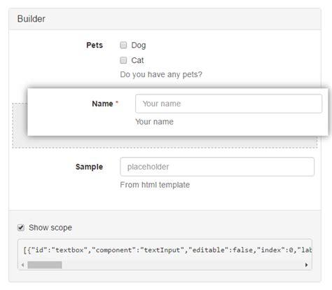 angular bootstrap form builder angular script gt gt 18 nice