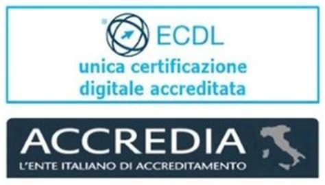 simulazioni test nuova ecdl logo ecdl accredia unica certificazione digitale
