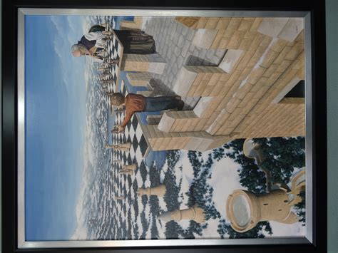 rob artwork for sale print on canvas by rob gonsalves quot the chessmaster quot 31x39