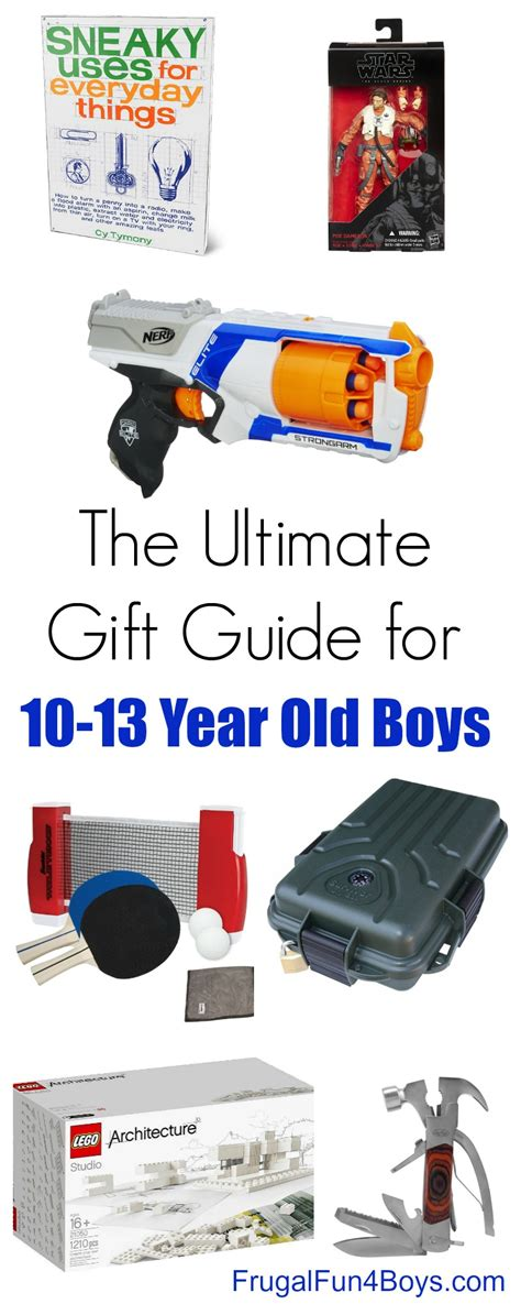 the best gifts for 10 13 year old boys frugal fun for