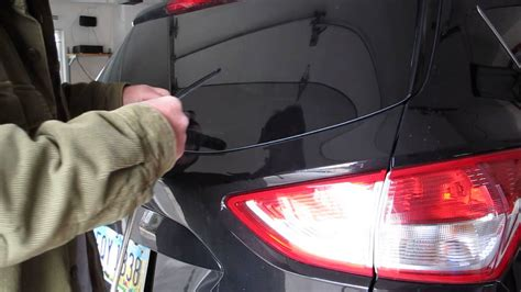 how to remove wipers from a 2008 ford taurus replacing rear wiper blade on 2013 ford escape youtube