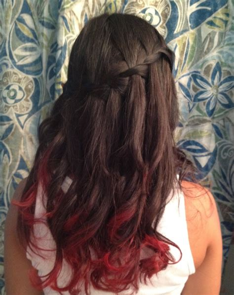 hairstyles for long dip dyed hair 1000 images about hair on pinterest beautiful red dip