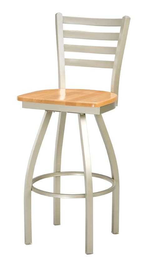 commercial swivel bar stools with back regal seating series 3516 ladder back commercial swivel