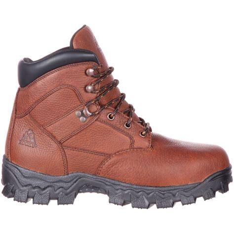 comfortable steel toe boots rocky alpha force steel toe pr waterproof comfort work boot