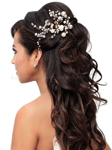 hairstyles down for brides half up wedding hairstyles half up half down wedding