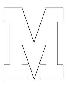 Block M Outline by Printable Letter M Template