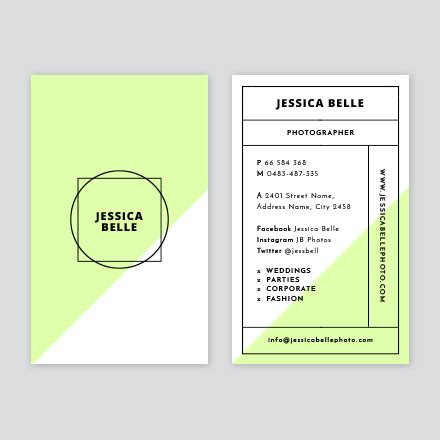 grid layout business card