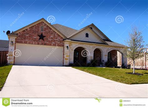 texas red house texas house new construction star stock images image 29856824
