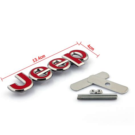 jeep grill decal 3d metal front grille grill abzeichen emblem decals