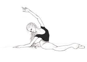 Drawing Of A Doing The Splits grand plie in third by hilarity on deviantart