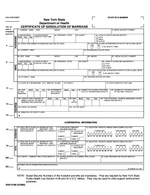 Dissolution Of Marriage Records Certificate Dissolution Fill Printable Fillable