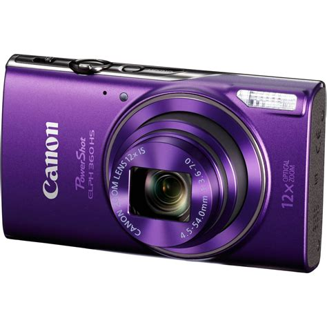 cannon digital canon powershot elph 360 hs digital purple