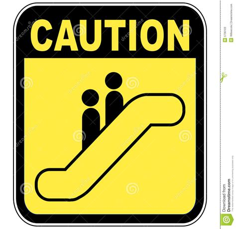 How To Read A Floor Plan Symbols by Caution Escalator Sign Stock Photos Image 5736103