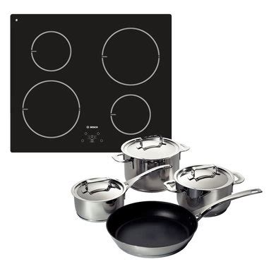 unieuro piani cottura bosch kit pie611b10j piano cottura induzione set di