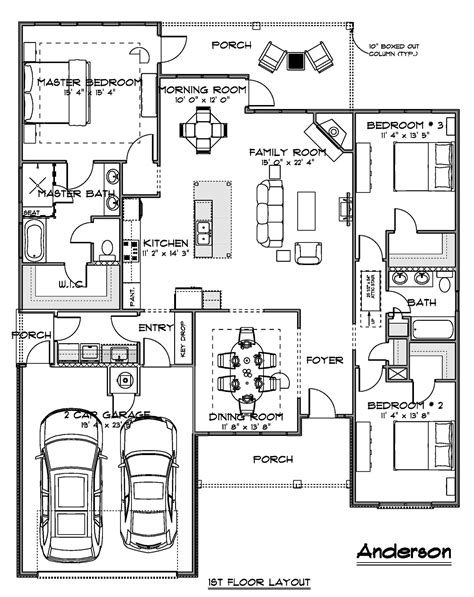 Builders House Plans 1 anderson house plan ff 1 architectural drawings home