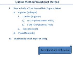 Outline Method Statement by Outline Method For Note Taking Kutztown