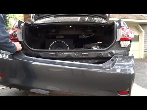 how to remove the rear bumper on the 2009 2013 toyota