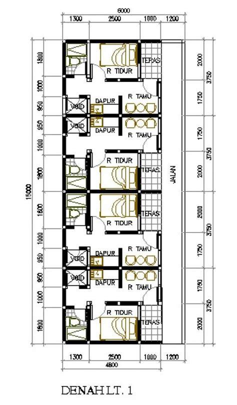 desain rumah kontrakan desain rumah petakan di lahan 6x15 m2 rumah kontrakan