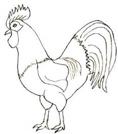 how to draw a rooster draw step by step