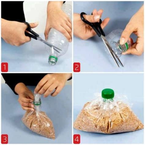 Diy Plastic Bottle L by How To Seal Plastic Bags With A Water Bottle Cap Step By