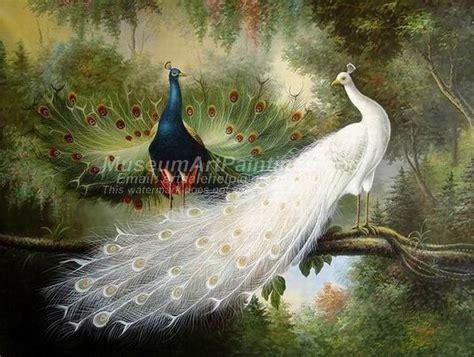 Lukisan Burung Custom peacock paintings peacocks by melchior