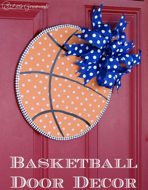 Basketball Decor by Basketball Door Decor Crafty Spot When Gets