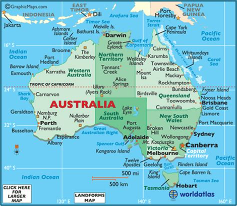australia facts, capital city, currency, flag, language